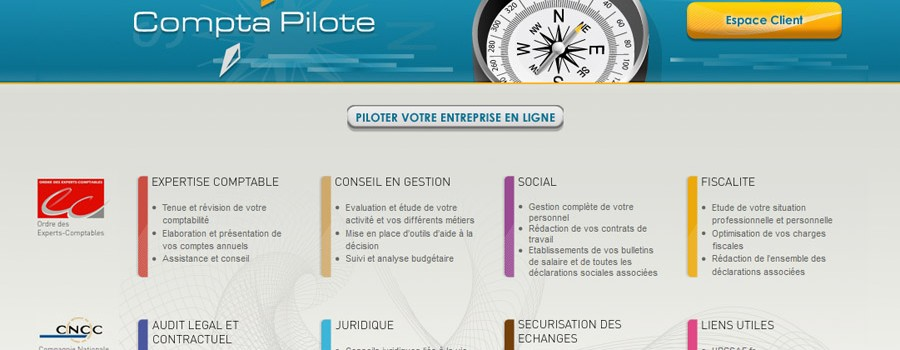 ComptaPilote.com: Site internet Pilote pour experts comptables