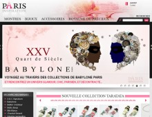 Site e-commerce de vente de bijoux et montres