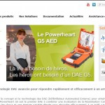 Site internet dynamique pour Cardiac Science France, fabricant de défibrillateurs