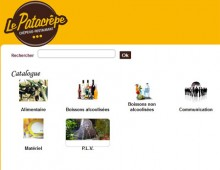 Site intranet d'une franchise de restaurants